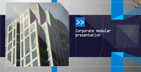 template after effects presentation corporate modular presentation by steve314 videohive