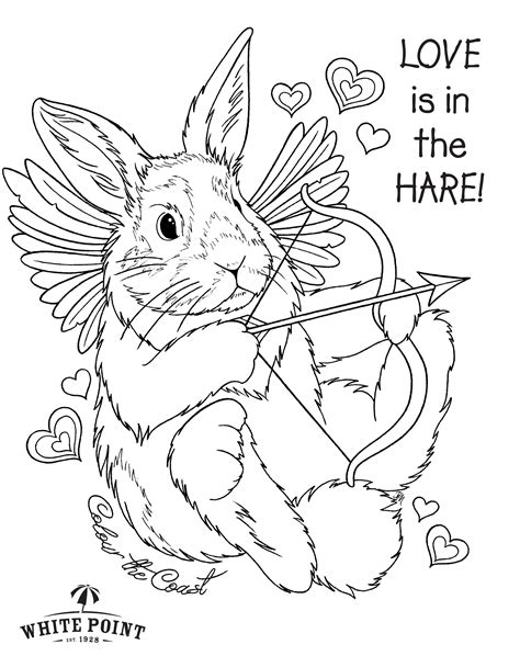 valentine bunny coloring page 92 valentine bunny coloring page valentines day