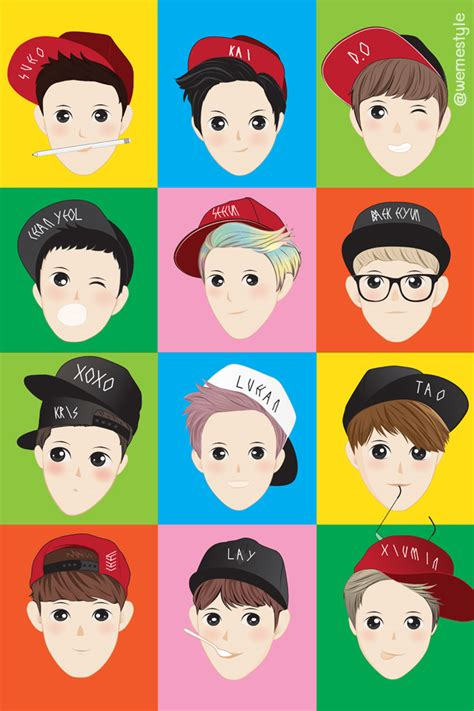wallpaper iphone 6 exo screen wallpaper for iphone exo color by vizadesign on