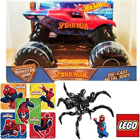 Wheels Authentic Jam Inside Spider spider wheels jam 1 24 scale lego marvel heroes spider vs the venom