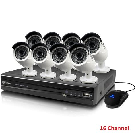Sale Nvr 16 Channel Cctv swann cctv 16 channel nvr with 8 bullet cameras 4mp buy