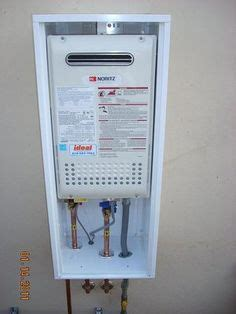 nortiz tankless water heater installed by ideal plumbing