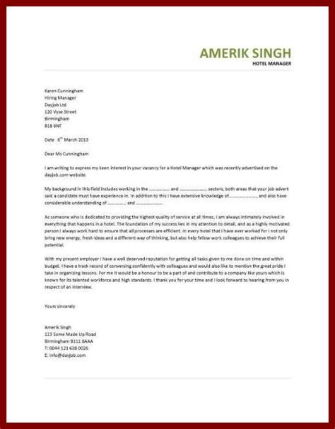 cover letter for employment in a hotel application letter for employment hotel sludgeport693