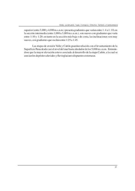 Geología cuadrangulo de mala (26j), lunahuaná (26k), tupe