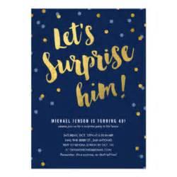 surprise party invitations amp announcements zazzle