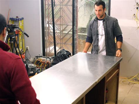 How To Install Kitchen Countertops How To Install A Stainless Steel Kitchen Countertop How Tos Diy