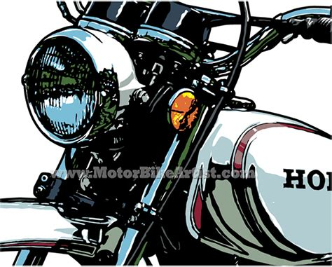 illustrator tutorial motorcycle honda xl250 vintage motorcycle vector art drawing on the
