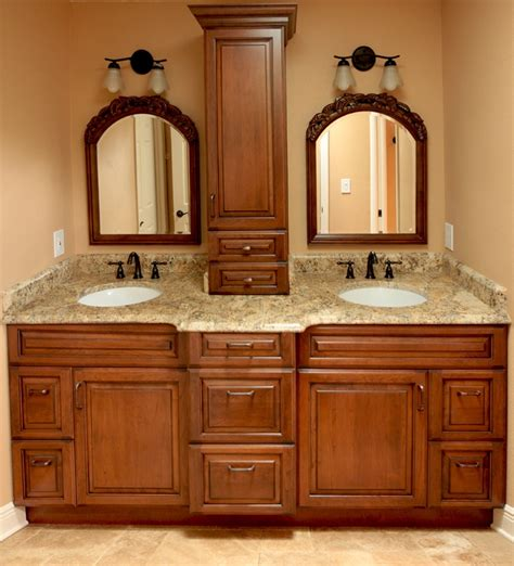 Bathroom Cabinets With Makeup Vanity by Custom Bathroom Vanities With Makeup Area Woodworking