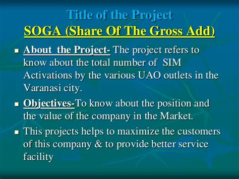 How To Answer Number Of Supervised On Mba Application by Aircel Soga Summer Report By Rohit Verma