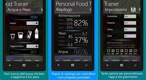 personal trainer alimenti personal food trainer l app perfetta per tenere traccia