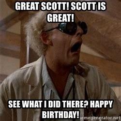 Great Scott Meme - doc brown great scott meme generator