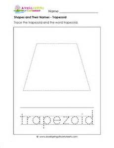 shapes and their names trapezoid shapes worksheets