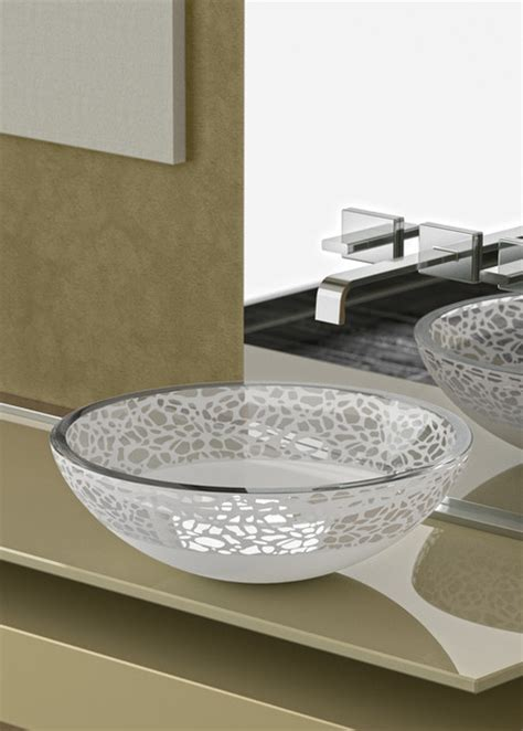 Modern Italian Bathroom Sinks Flare Italian Glass Vessel Sink Modern Bathroom Sinks