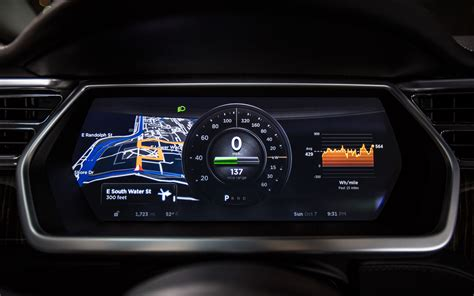 tesla model s instrument cluster the new tesla model s car s instrument panel jpg