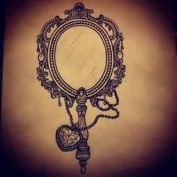 mirror tattoo design best 25 mirror tattoos ideas on vintage