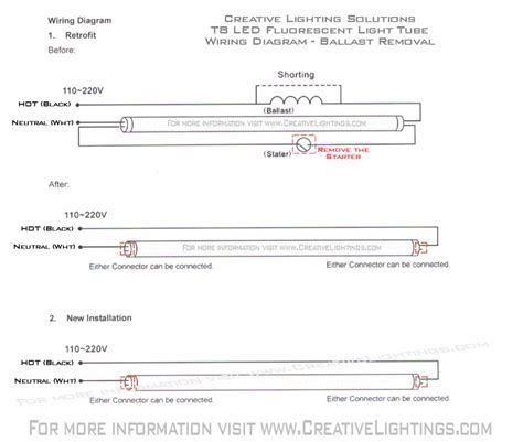 philips t8 led wiring diagram circuit and schematics diagram