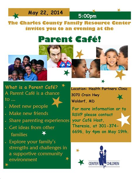 parent flyer templates center for children 187 charles county family resource center parent cafe