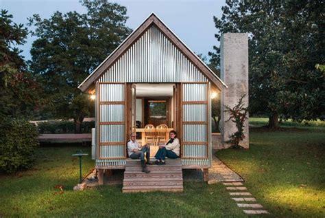 beautifully built corrugated steel retreat  north