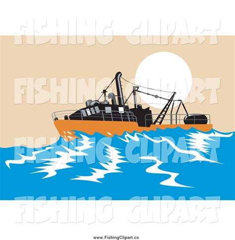 boat sinking clipart clip art of a sinking fishing boat at sea by patrimonio 777