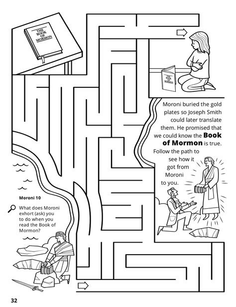 lds coloring pages joseph smith the golden plates from moroni to joseph