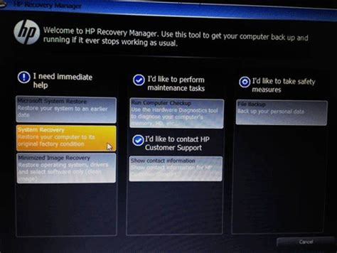 resetting hp stream to factory settings micro center how to use hp recovery manager to restore