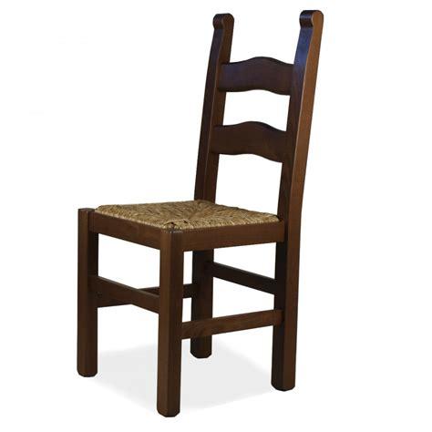 sedia legno sedia rusticona in legno sedile paglia o massello mod108