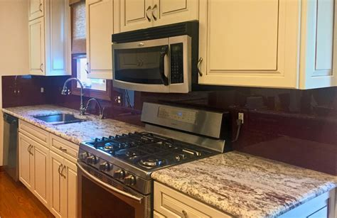 colored glass backsplash kitchen back painted glass backsplash in custom color