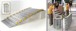 Wheelchair Ramps For Steep Stairs by Roll A Ramp Portable Wheelchair Ramp