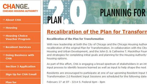 chicago housing authority plan for transformation chicago housing authority launches website to collect ideas on transformation plan