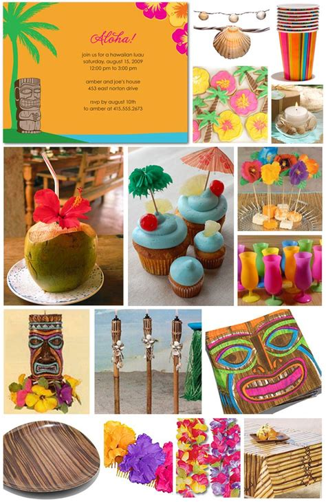 party themes luau inspiration board luau
