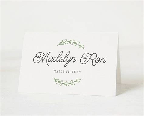 wedding place card template free word 25 unique printable place cards ideas on diy
