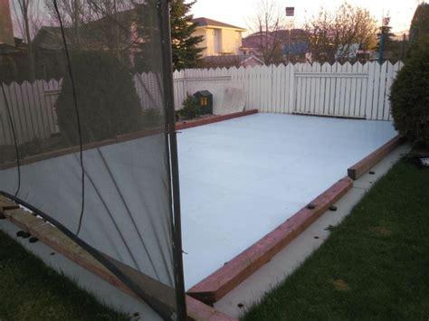 Backyard Rink Ideas by Synthetic Backyard Rink Backyard Synthetic Rink