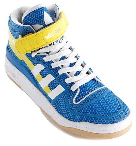Big Diskon Pre Order Ultra Boost Kicks adidas originals forum mid lite blue yellow white march 2011 sneakernews