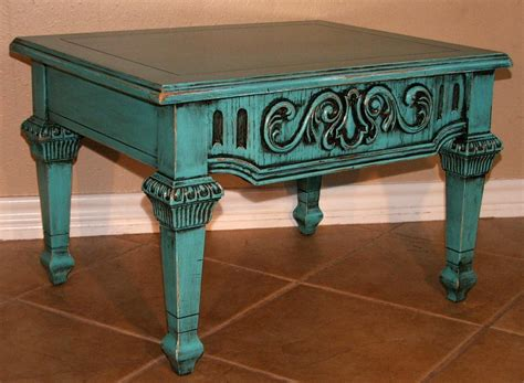Distressed Turquoise Coffee Table Distressed Turquoise Coffee Table Coffee Table Design Ideas