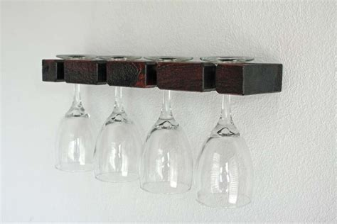 Wineglass Racks by Wine Glasses Rack Wall Mounted Wine Glass Rack By