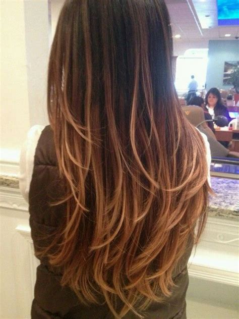 straight hair with black and brown at bottom pictures of black hair with caramel highlights hairstyle