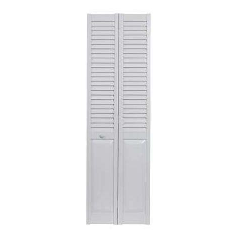 Vinyl Folding Closet Doors by Bi Fold Doors Interior Closet Doors The Home Depot