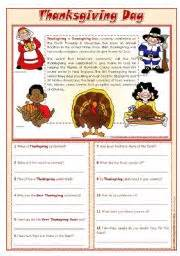 thanksgiving comprehension printables english teaching worksheets thanksgiving day