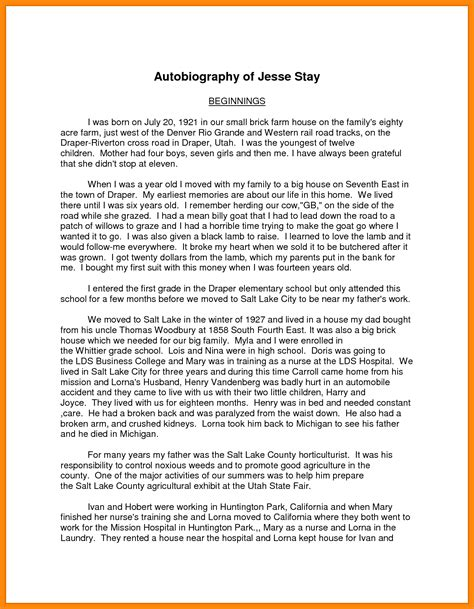 exle writing biography yourself 9 exle of autobiography about yourself nurse resumed