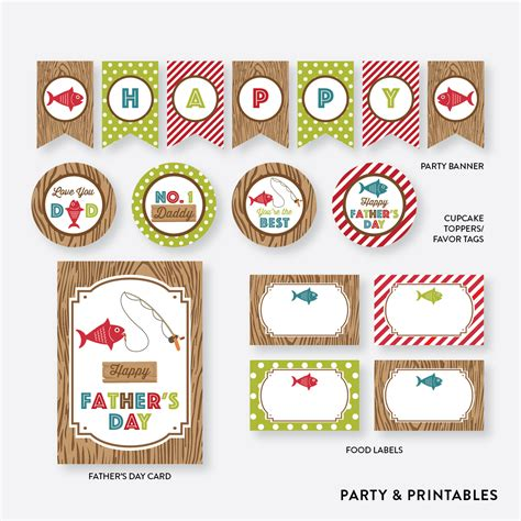 printable card toppers free i love fishing father s day free printables catch my party