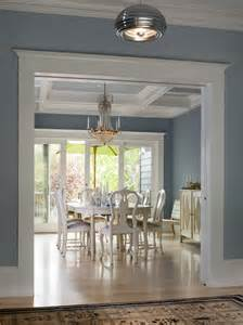 Light Blue Dining Room Dijejau Poage Construction Dining Room Light Gray Blue Walls Wooden Floors Gold Chandelier