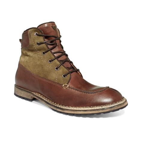 mens armani boots armani suede boots in brown for green suede