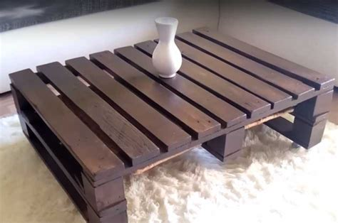 diy pallet coffee table   coolest wood project