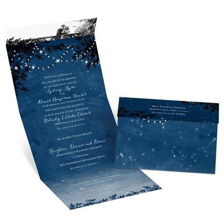 free seal and send wedding invitation templates starry seal and send invitation s bridal bargains