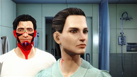hair and face models fallout 4 character custimzation non replacer facepaints and