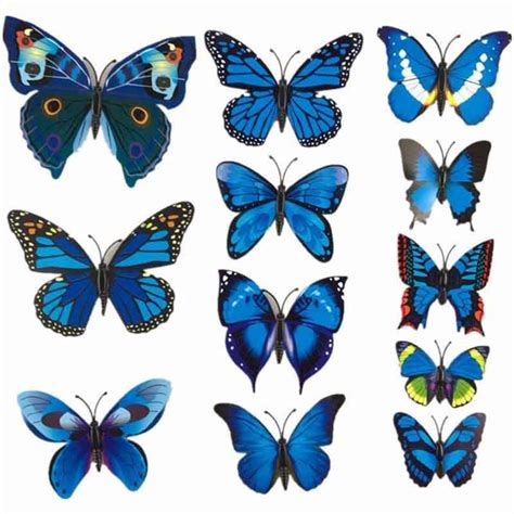 C40 Wallpaper Sticker Green With Butterfly 12 pcs lot pvc 3d magnet butterfly wall stickers butterflies decors for wedding home