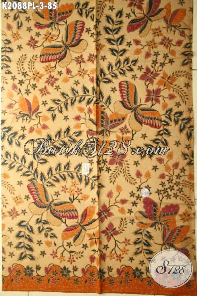 Kain Batik Print Halus 12 kain batik jawa tengah halus motif bunga dan kupu batik trendy bahan busana elegan wanita muda