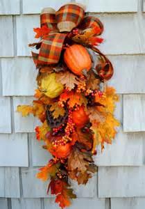 fall wreath swag autumn harvest wreath for the door sale