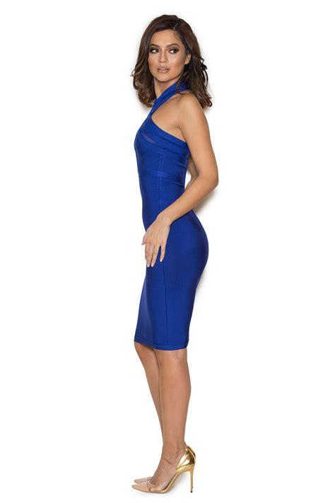Alka Dress clothing bandage dresses alka blue mesh and
