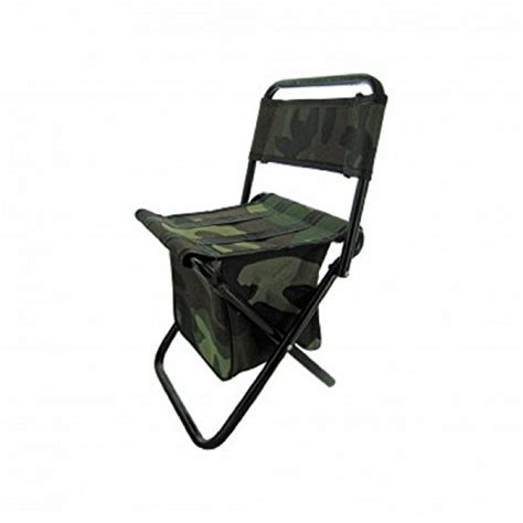 geekshive camouflage cing stool chair with zippered